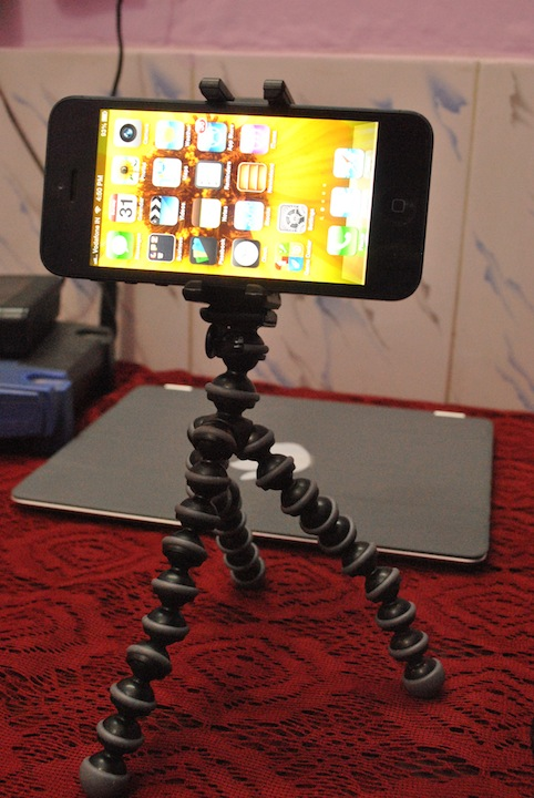 Gorillapod Clamp Stand for iPhone 5