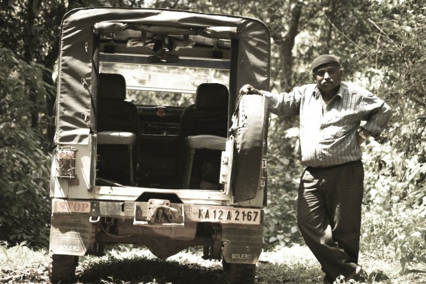 That's our 4wheel driver, Ravi up the jungles. He waited for us in the heart of Jungles as we came back from our trek in about 1.5 hours.