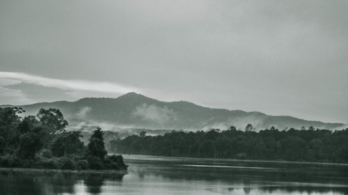 Here is another black and white shot of the mountains/river near the Chikli Dam. It's a heaven in the evenings.