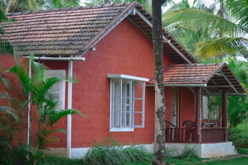 That's the beautiful Cottage at Eco Habitat