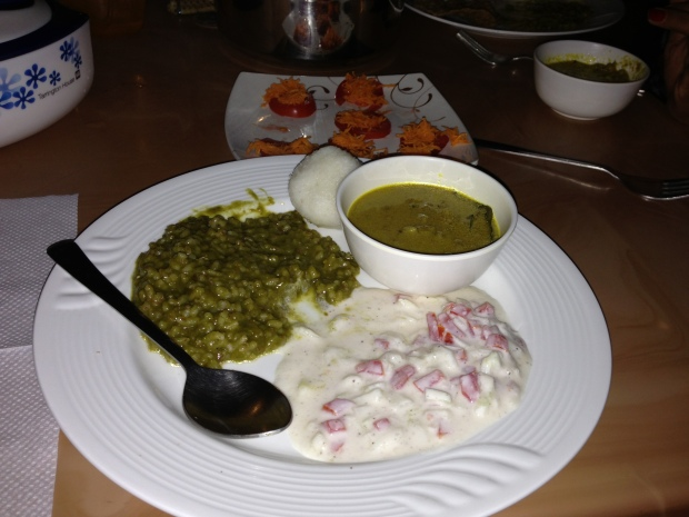 Traditional South Indian food for dinner