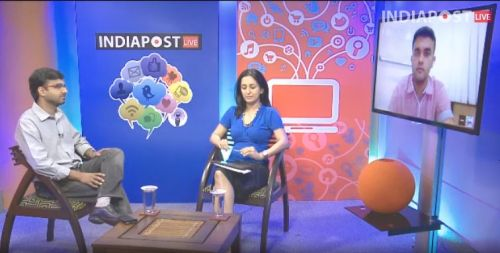 A panel discussion on Twitter India's Election Strategy at IndiaPostLive